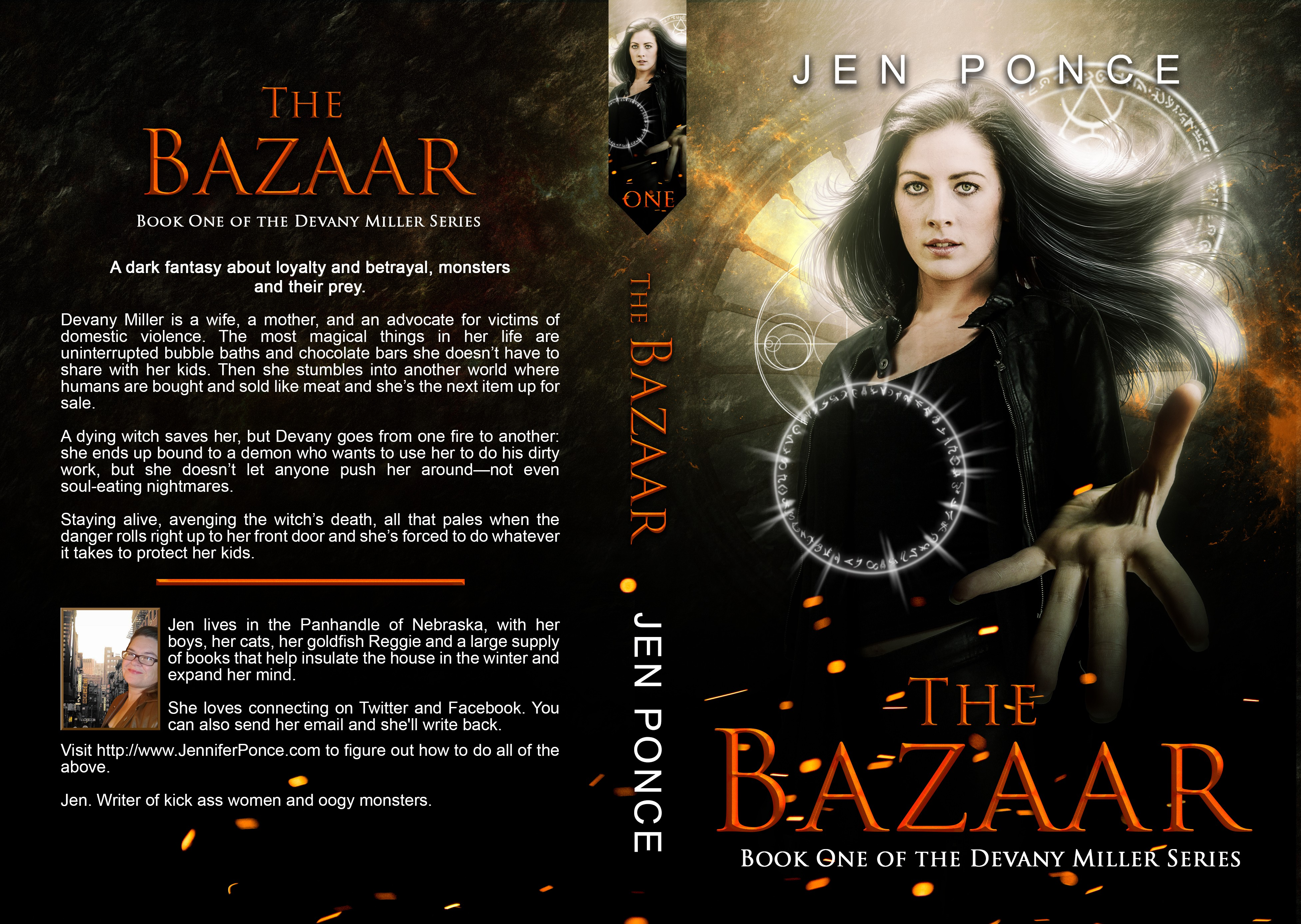 Design a creepy, kickass cover for the dark fantasy novel The Bazaar