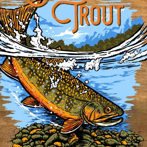 T_shirt Design for Brook Trout
