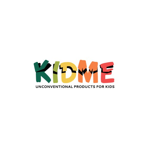 KidMe, logo design for a new e-commerce website focused on childrentoys, apparel and accessories