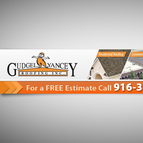 Create the next banner ad for Gudgel Yancey Roofing