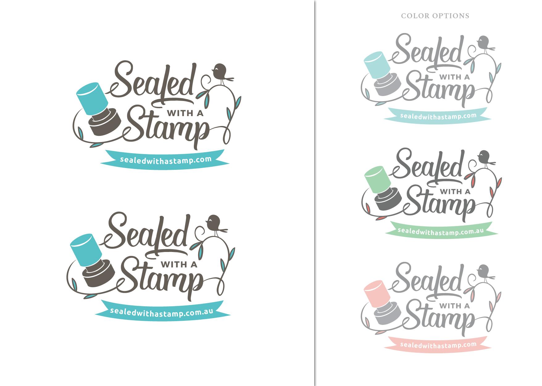 Teacher stamp business needs a fun new logo!
