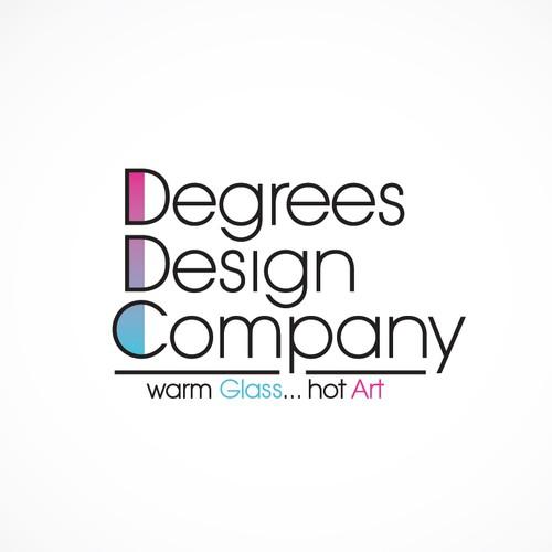 Logo for warm glass design company