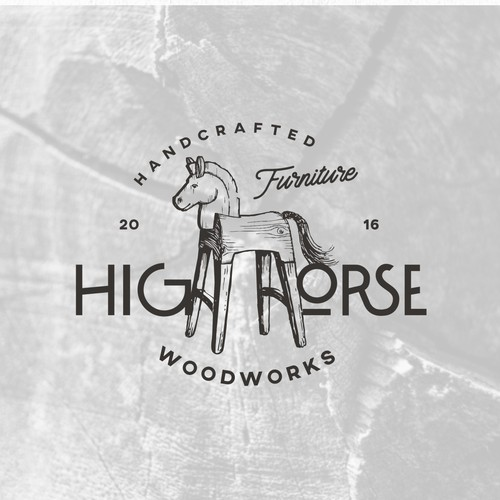 logo for HIGH HORSE woodworks