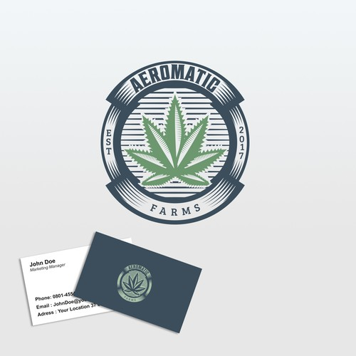 Winning Logo , for Cannabis Farm