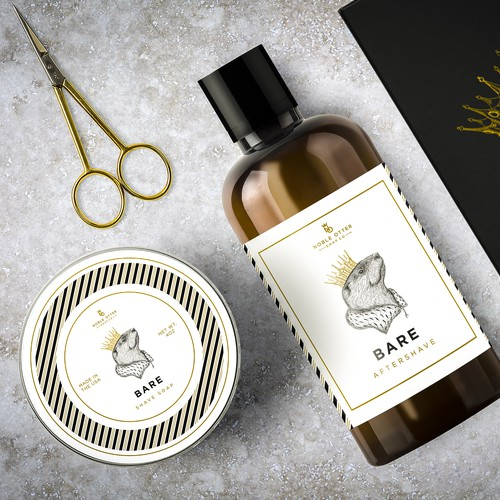 Crowned Otter for Bare Aftershave and Shave soap
