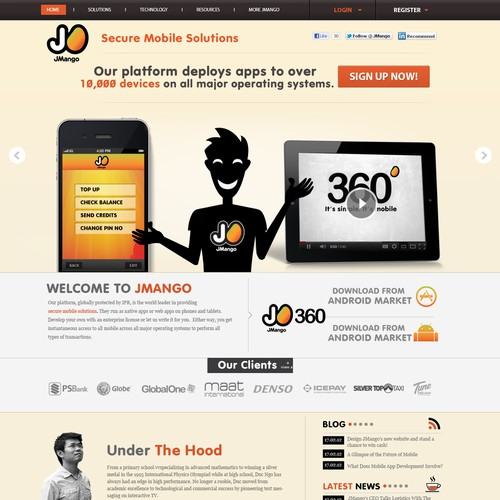 Web Design for mobile tech business with potential for more design work