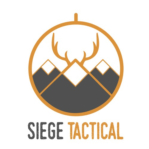 masculine logo for outdoor, hunting company