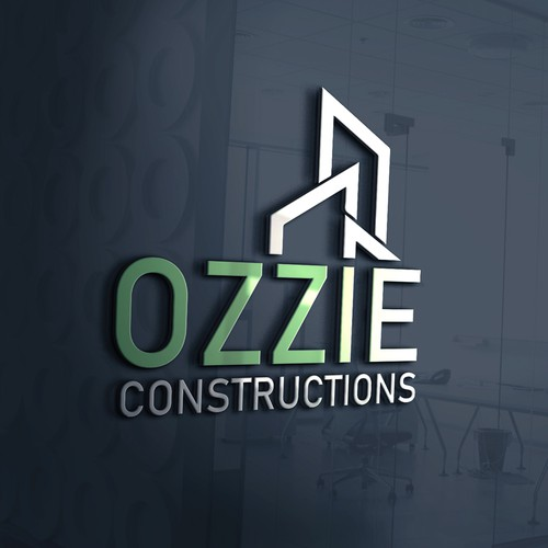 Slick geometric logo for construction company.