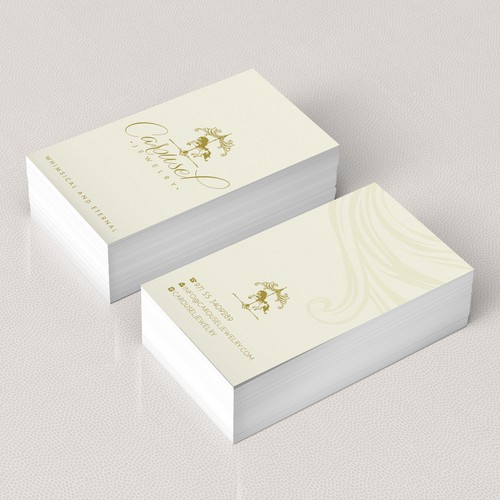 Whimsical and Eternal Jewelry Brand business card