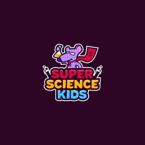 Logo concept for Super Science Kids