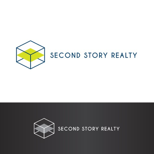 Modern logo for a real estate company