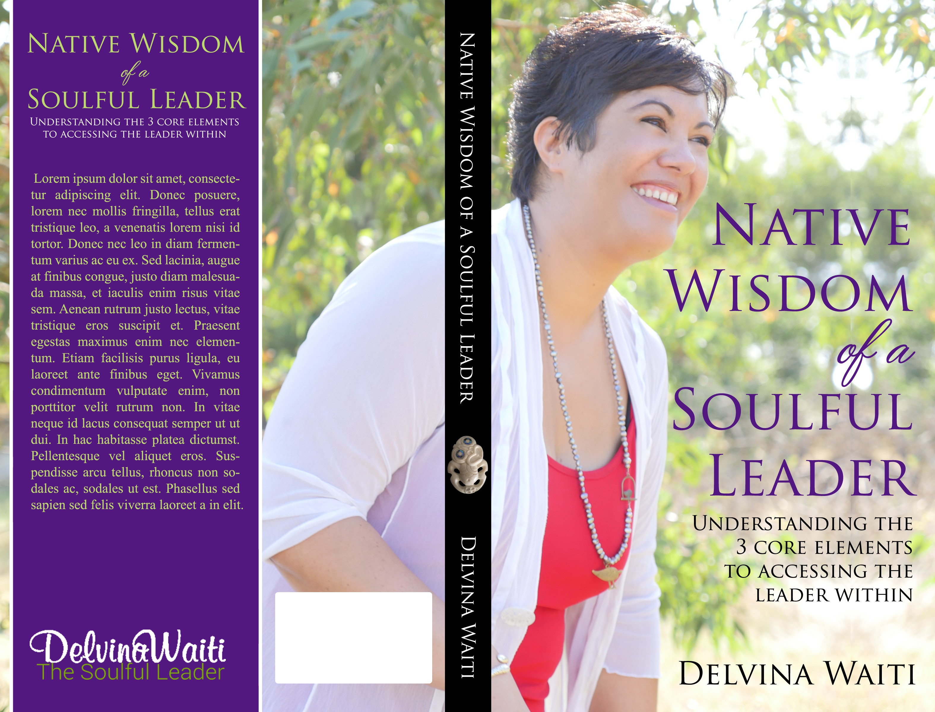 Create a soul wisdom book cover for a soulful leader