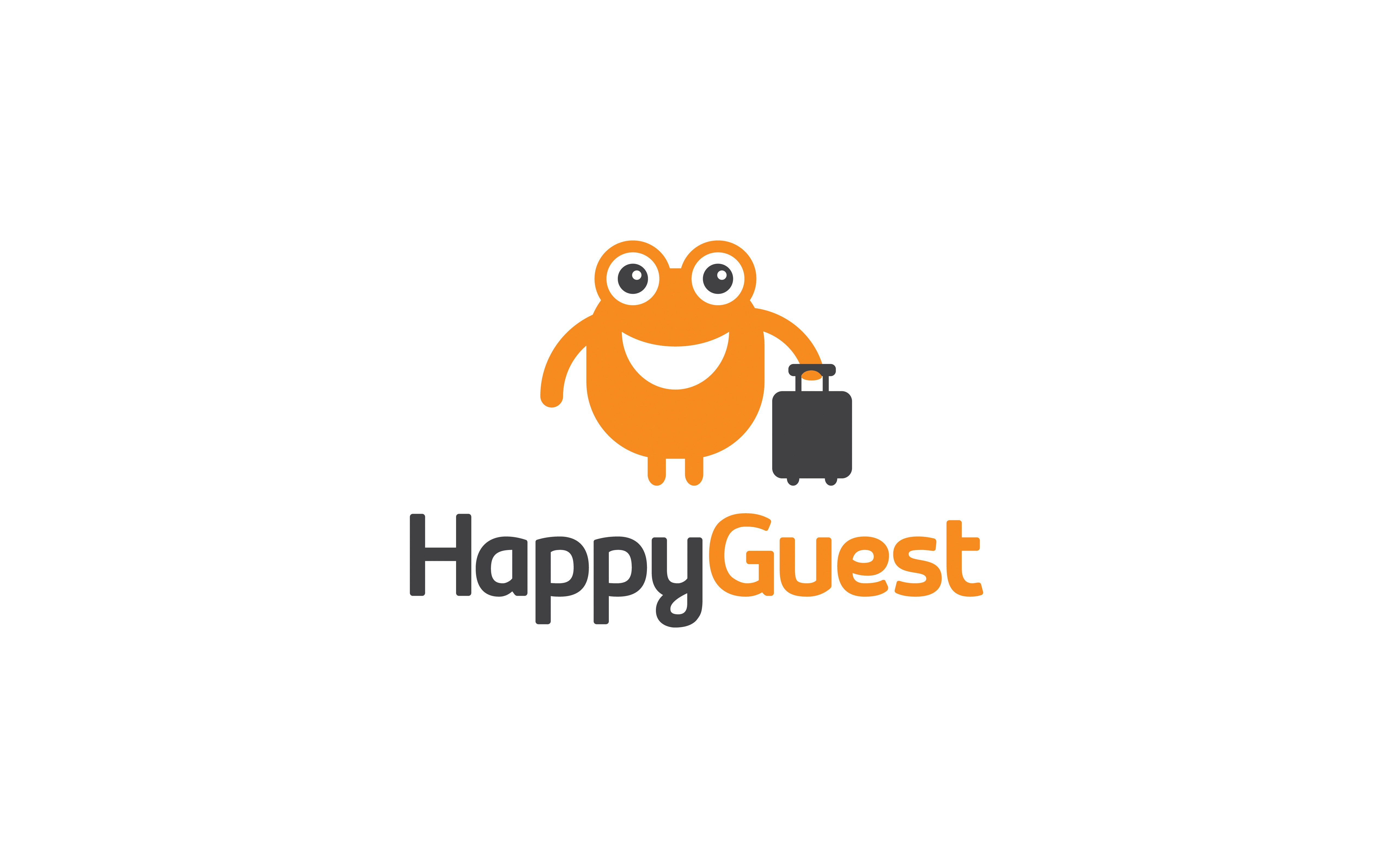 'Happy Guest'  needs a fresh, exciting brand identity to help launch its new business