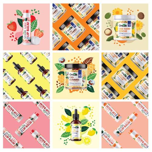 Instagram images and label design