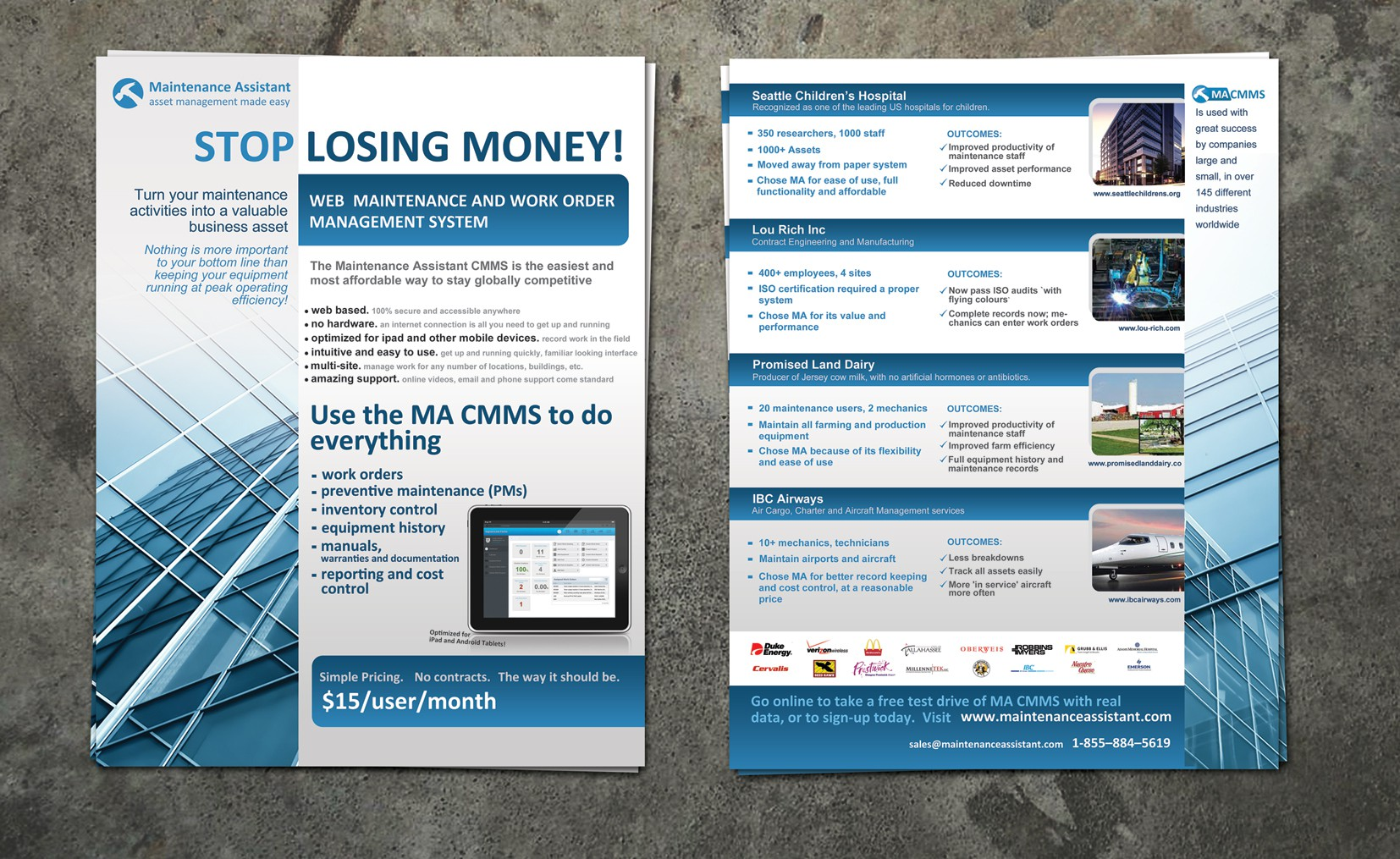 Help Maintenance Assistant Inc. with a new postcard or flyer