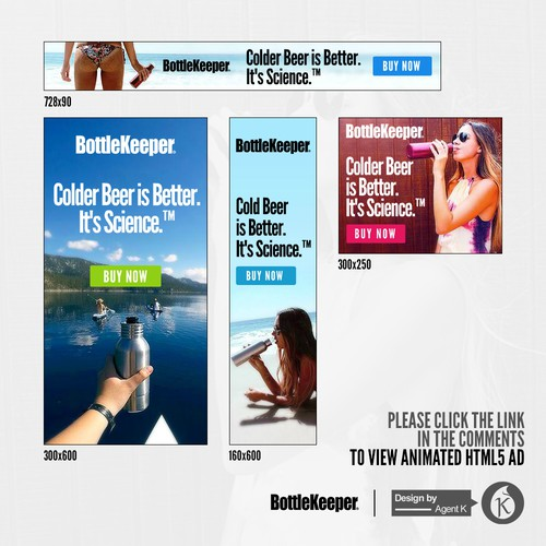 HTML5 Banner Ad Set for BottleKeeper™