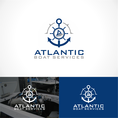logo concept for Atlantic boat Service