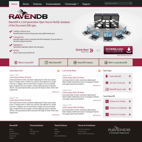 New website design wanted for Hibernating Rhinos LTD