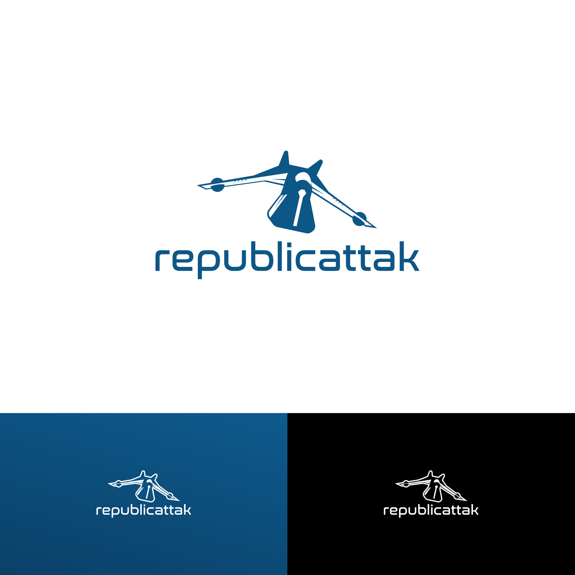Create a logo for a YouTube channel: republicattak