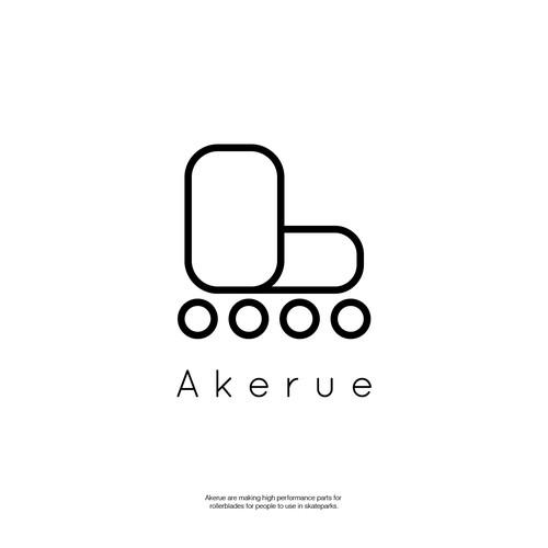 "Logo concept for Skate Brand ""akerue"""