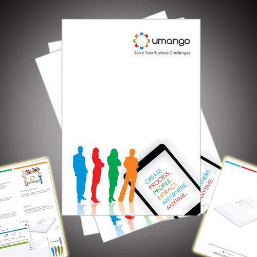Design us an engaging brochure for our software applications