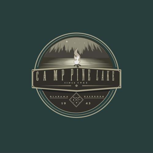 Camping shirt logo