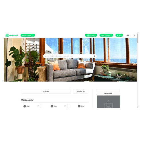 Landing page for Real estate agency