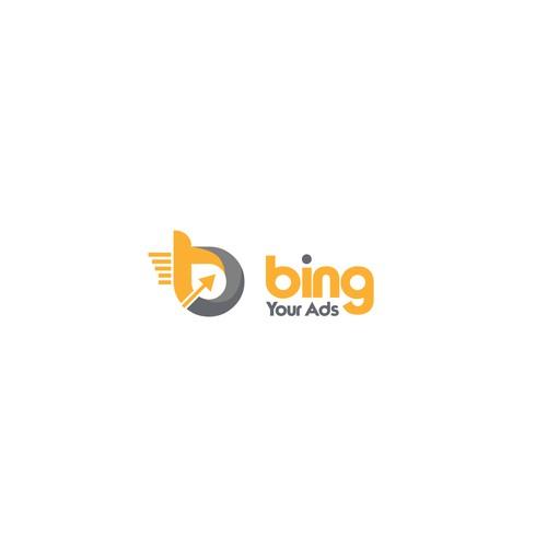 simple design logo Bing Your Ads #2