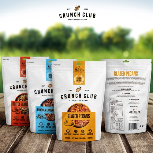 Packaging Design for Gourmet Pecan Company