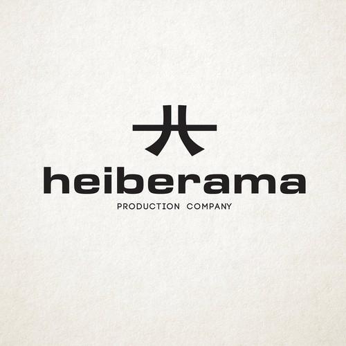 Heiberama logo design