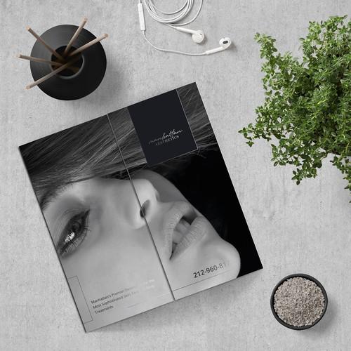 Elegant Gate-Fold Brochure Concept for Manhattan Aesthetics