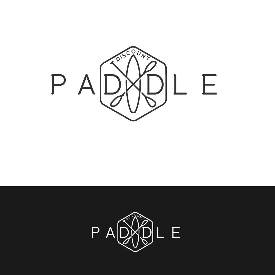 Create a hipster/vintage logo for stand up paddle board company