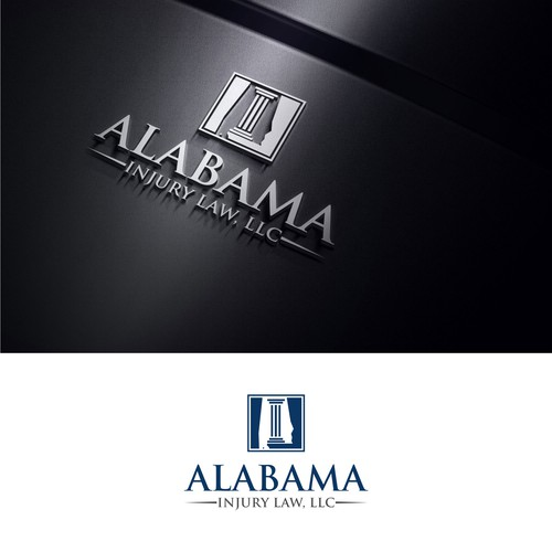 Sophisticated and Luxury logo for Alabama Law Firm