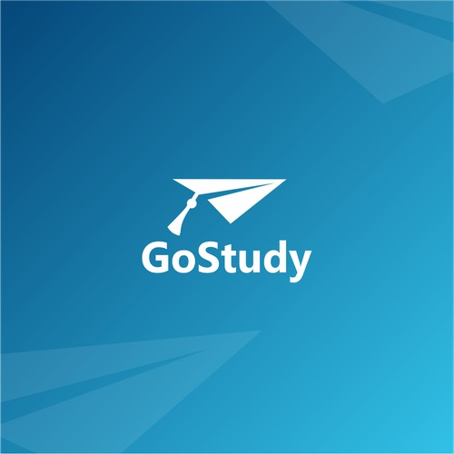 Simple clean logo for study abroad