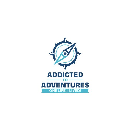 Logo concept for Addicted to Adventures