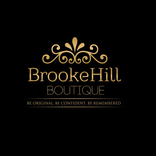 New logo for BrookeHill Boutique, an online woman's clothing boutique