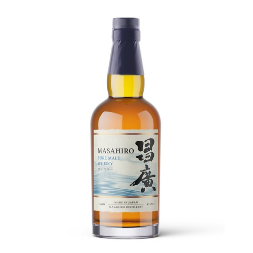 Label design for a premium japanese whisky