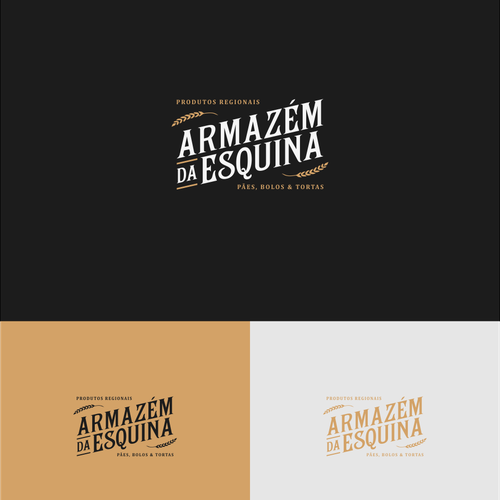 Logo for ARMAZÉM DA ESQUINA, old warehouse style at countryside of Brazil