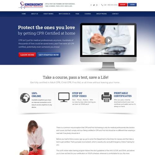 Online Medical Training Website