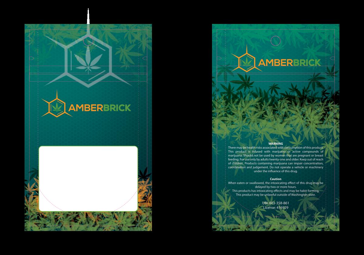 Amber Brick - 3.5x5 Custom Bag