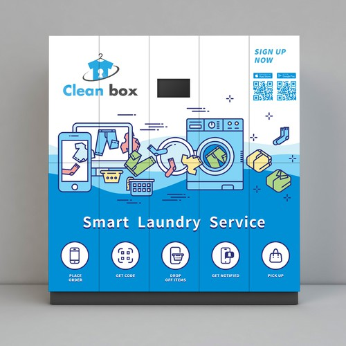Laundry Service Illustration Design