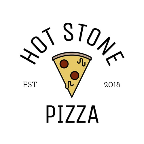 AVAILABLE: Concept logo for pizza restaurant