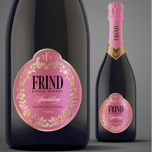Sparkling Wine Label for Frind Estate Winery