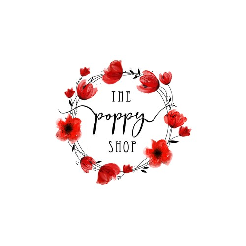Watercolor logo for The Poopy Shop