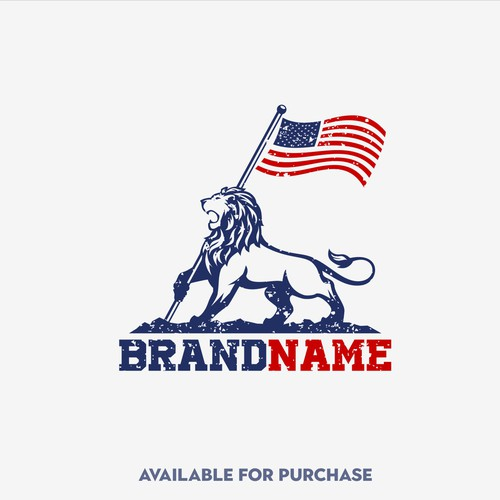 patriot lion logo design