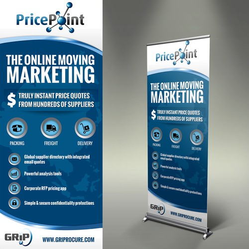 Create a vertical column tradeshow banner for PricePoint