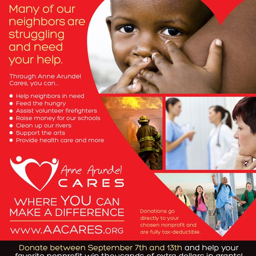 Create magazine ad for Anne Arundel Cares