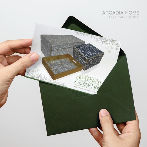 Post Card Design for Arcadia Home