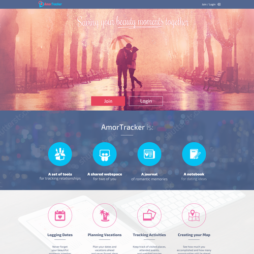 AmorTracker website
