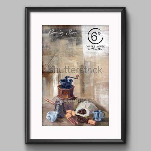 Create Artful Poster for Coffee House & Social Cafe